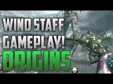 Black Ops 2 Zombies Origins Wind Staff GAMEPLAY - BO2 Origins Elemental Wind Staff GAMEPLAY - Smashpipe Games