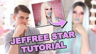 I FOLLOWED A JEFFREE STAR MAKEUP TUTORIAL!!  *crazy transformation*