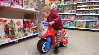 Deni go to Shopping in Toy Store Let`s go shopping song for kids