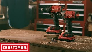 CRAFTSMAN V20* Cordless 2 Tool Combo Kit | Tool Overview