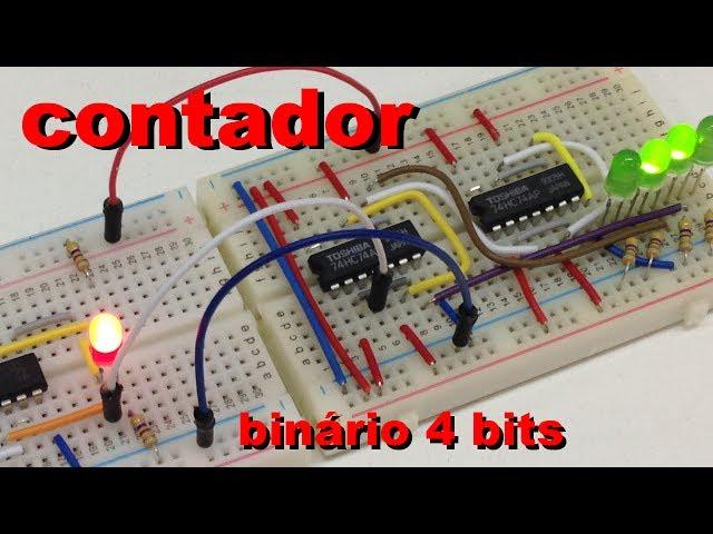 CONTADOR BINÁRIO SIMPLES DE 4 BITS | Conheça Eletrônica #030