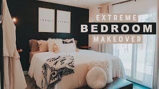 EXTREME BEDROOM MAKEOVER | TRANSFORMATION + ROOM TOUR 2020