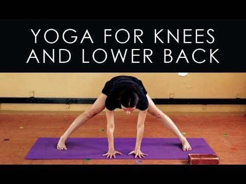 iyengar yoga for knees and lower back pain  youtube