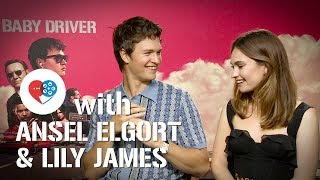 At the Movies x Baby Driver: Ansel Elgort & Lily James