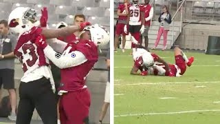 SCUFFLE Breaks out between Cardinals CB Robert Alford & WR Damiere Byrd! #CardsCamp
