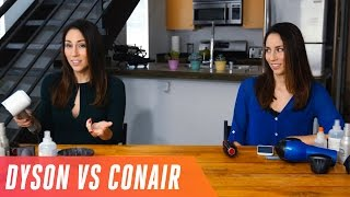 Dyson Supersonic hairdryer vs. regular Conair