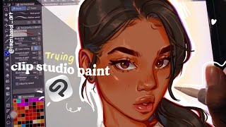 🤍Sketch with me: clip studio paint review!
