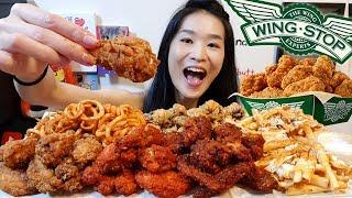 WINGSTOP BLOWOUT!! Crazy Spicy Mala Hot Wings, Texas Buffalo  - Crunchy Fried Chicken Mukbang w Asmr