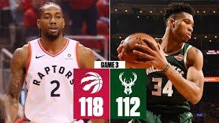 Kawhi comes up clutch in 2OT win   Bucks vs. Raptors Game 3   2019 NBA Playoff Highlights