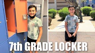 BACK TO SCHOOL | 7th GRADE MIDDLE SCHOOL LOCKER, CLASS SCHEDULE & SCHOOL TOUR | PHILLIPS FamBam Vlog