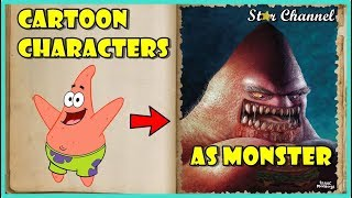 Cartoon Characters Reimagined As Monsters 🌟 Funny Pictures