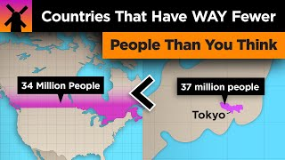 Countries With WAY Fewer People Than You Think