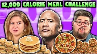 We Tried The Rock's 12,000+ Calorie Cheat Meal Challenge