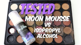 THE MAKEUP BREAKUP - Reviewing Moon Mousse vs isopropyl alcohol / how to re-press broken makeup