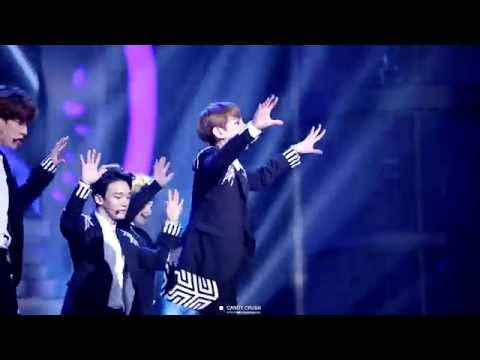 150115 Golden Disk Awards EXO - Let out the beast (백현 focus)