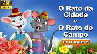 O Rato do Campo e o Rato da Cidade - Fábulas de Esopo - 4k UHD - Portuguese Fairy Tales
