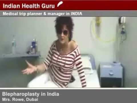 Mrs. Rowe Blepharoplasty Treatment in India