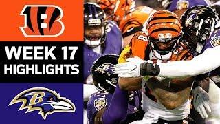 Bengals vs. Ravens | NFL Week 17 Game Highlights