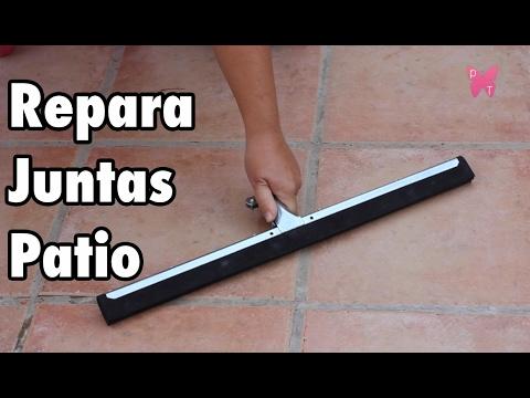 C mo reparar juntas de baldosas del patio rejuntar suelo - Como limpiar las juntas del suelo de gres ...