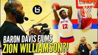 Zion Williamson GOES OFF in Front of Baron Davis & Rachel