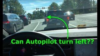 Tesla Autopilot | Can AutoPilot V9 make a left turn?