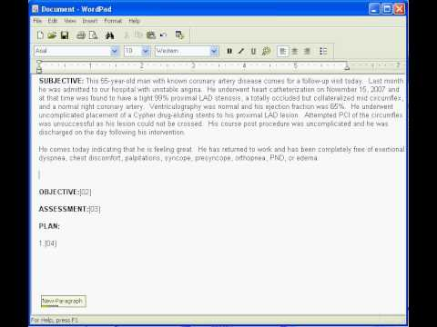 Medical Transcription thesis report sample