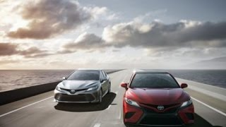 كامري 2018 : سيارة شركة تويوتا الجديدة في النسخة الحديثة .     -