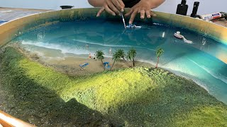 How to make an OCEAN TABLE – Awesome ideas – Epoxy Resin art
