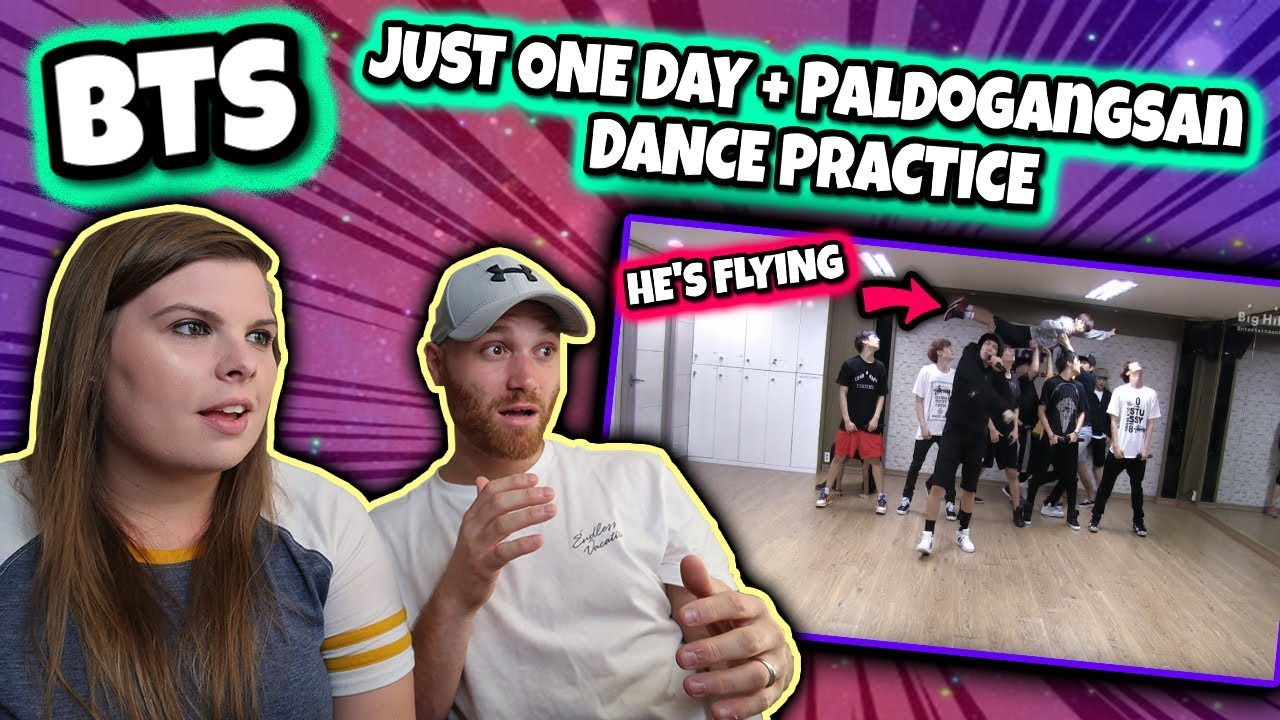 BTS [BANGTAN BOMB] 'Just one day' practice (Appeal ver ) & (Paldogangsan)  Dance Practice Reaction