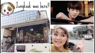 Dog Café in Gangnam~ JUNGKOOK VISITED HERE!! | Vlog