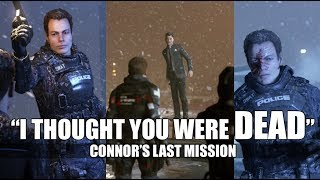 """DBH - Connor Tells Captain Allen """"Androids Don't Die"""" (All Dialogue) - Connor's Last Mission"""