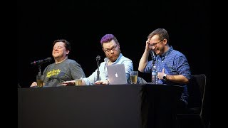 [HD] MBMBaM Live Show Houston HIGHLIGHTS - 416: Face 2 Face: Haunted Doll Cinematic Universe