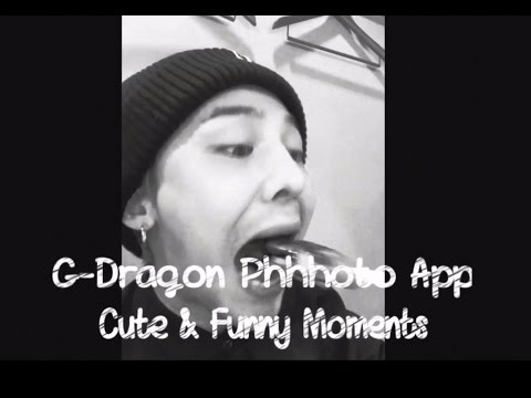 G-Dragon Phhhoto App - Cute & Funny Moments Compilation