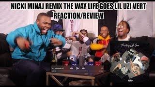 NICKI MINAJ REMIX  LIL UZI VERT THE WAY LIFE GOES REACTION/REVIEW