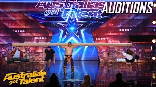 AMAZING Mongolian 'Strong Man' Takes Judges for a Ride | Auditions | Australia's Got Talent