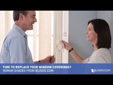Time to Replace Your Window Coverings?  Roman Shades from Blinds.com