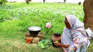 Jhinger Khosha Bata | Delicious Ridge Gourd Unused Skin Recipe by our Grandmother | Village Food