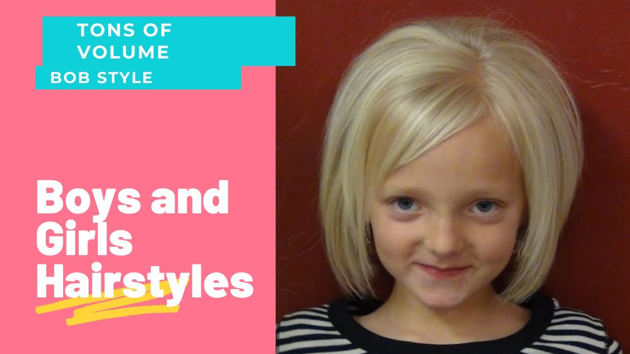 Hair Style Thin Hair: Cut Short HairStyles Into Little Girl's Hair Tutorial