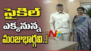 Actress Manju Bhargavi Meets CM Chandrababu..