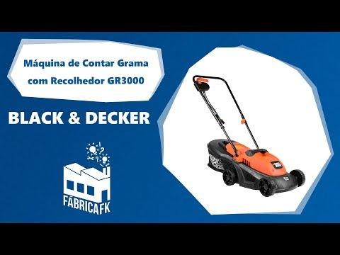 Cortador De Grama 1000W Com Indução GR3000 Black&Decker 220V - Vídeo explicativo