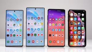 Samsung Galaxy Note 10 vs. Note 10+ vs. S10+ vs. Apple iPhone Xs Max - Benchmark | SwagTab
