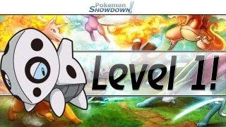 Level 1 Aron Sweep! - Pokemon Showdown LIVE #1