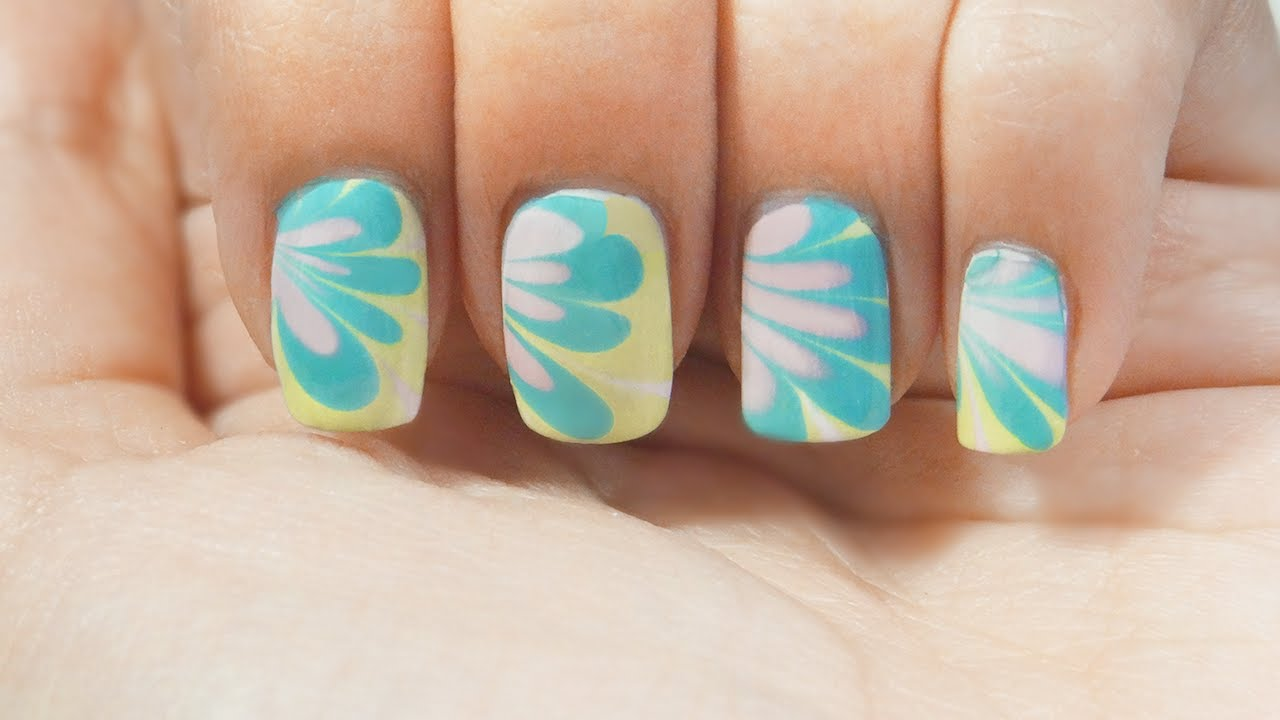 U 241 As Marmoleado Al Agua Trucos Water Marble Nails Tips