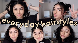HOW I STYLE MY HAIR | 6 EASY HAIRSTYLES FOR HEATLESS WAVES