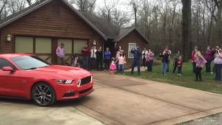Best Gender Reveal EVER!!!!! Mustang Burn Out!!!