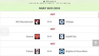 Lịch thi đấu các giải bóng đá Anh 2018/2019