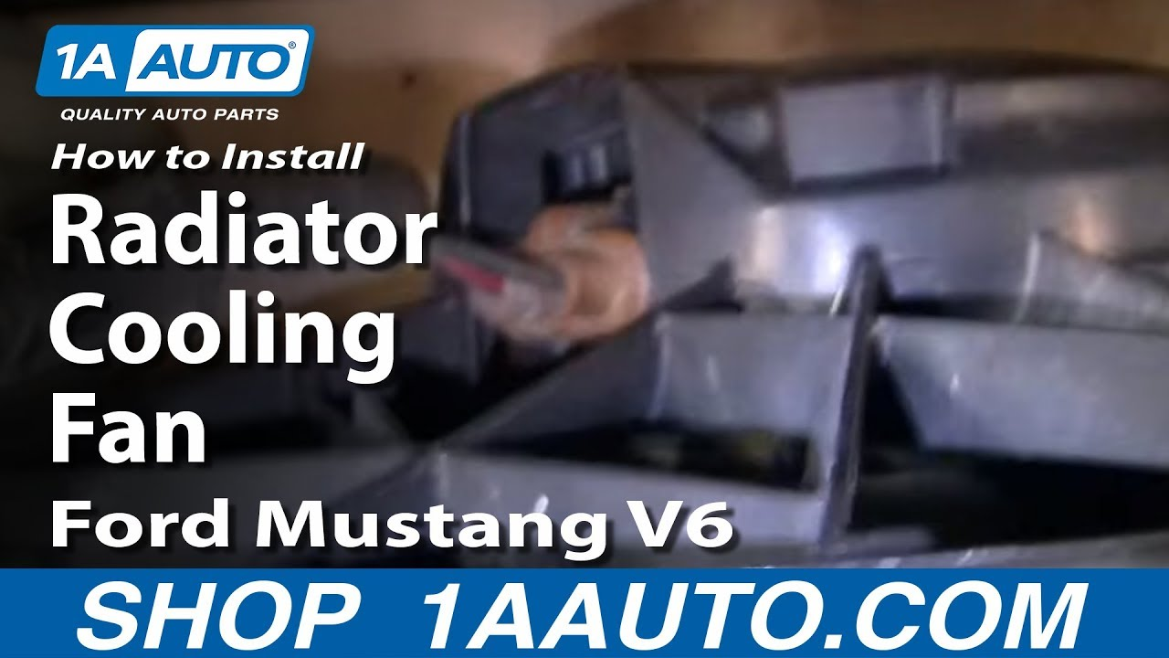How To Install Replace Radiator Cooling Fan Ford Mustang