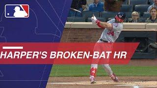 Harper crushes a homer despite breaking his bat