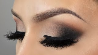 Affordable Neutral black smokey eye makeup tutorial