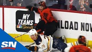Flyers' Ryan Hartman Gets Standing Ovation For Hit On Rasmus Dahlin